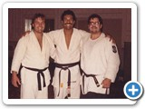 Carl with Rorian Gracie at a Grace Jujutsu Seminar 1989.