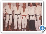 Carl Cestari with Helio Gracie and Son Royce Gracie 1989 Gracie Jujutsu Seminar